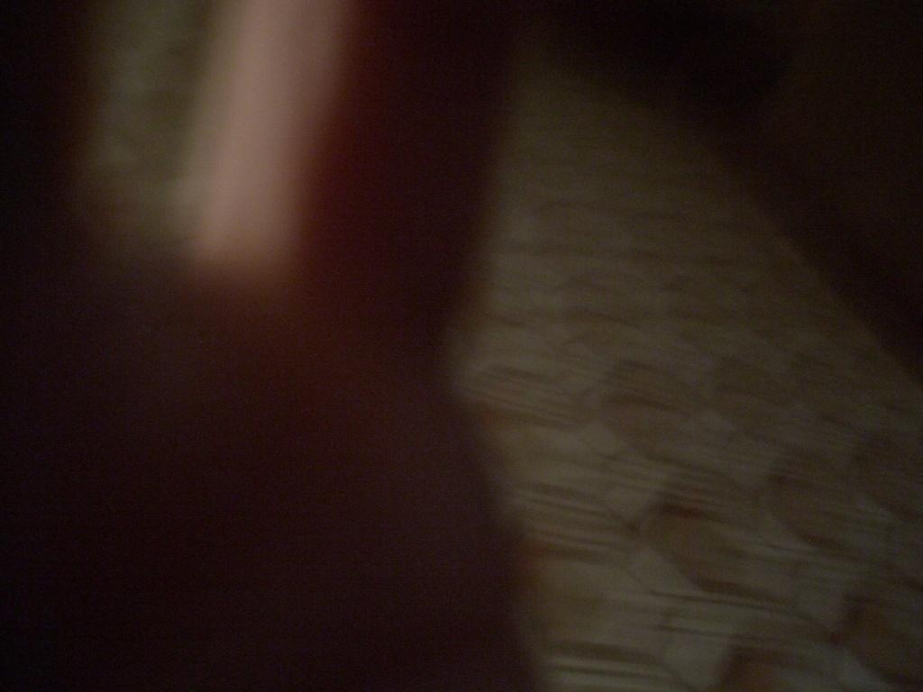 [Picture: Blurry hexagonal floor]