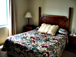 [Picture: Hotel bed.]