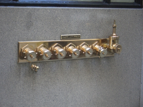 [Picture: Sprinkler standpipes]