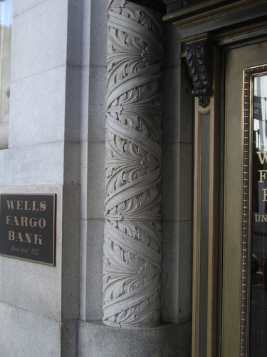 [Picture: Wells Fargo Bank Decorative Pillar]