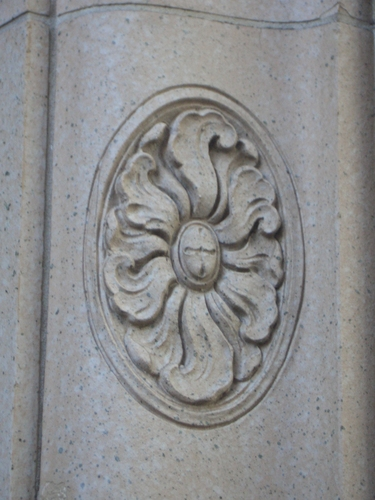 [Picture: Decorative architectural stone carving]