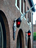 [picture: Red Lanterns on Brick Wall]