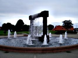 [picture: Stone fountain]