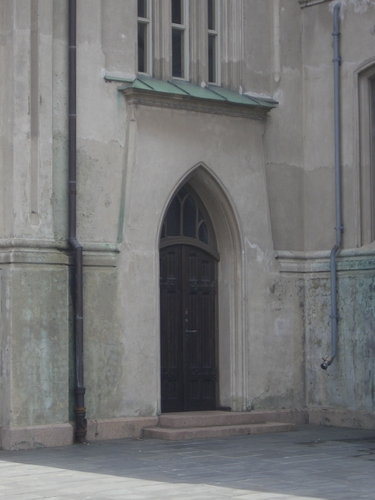[Picture: Church side door]