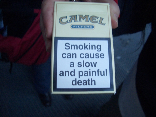 [Picture: Smoking can cause a slow and painful death]