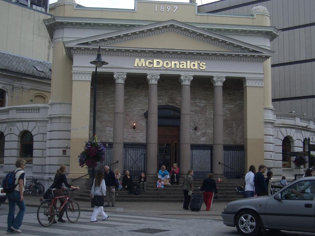 [Picture: The poshest McDonald's?]