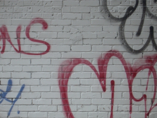 [Picture: Wall with graffiti]