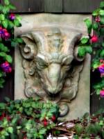 [picture: Stone goat head 2]