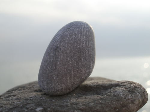 [Picture: Small Rock With Longitudinal Lines 2]