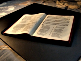 [picture: Old hymn book]