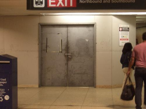 [Picture: Locked Steel Door]