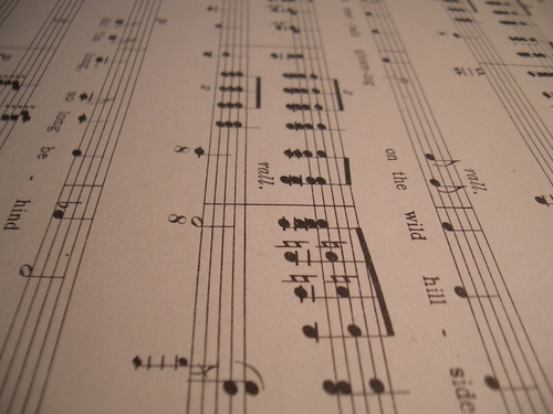 [Picture: Music staves]