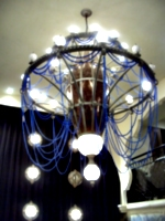 [picture: Chandelier lit up]