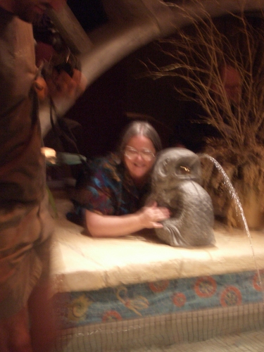 [Picture: Blurry Debbie with Dolphin]