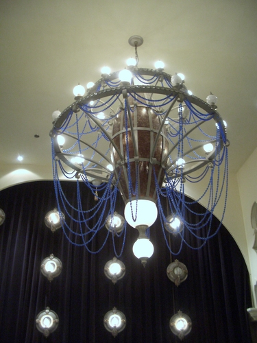 [Picture: Chandelier lit up 2]