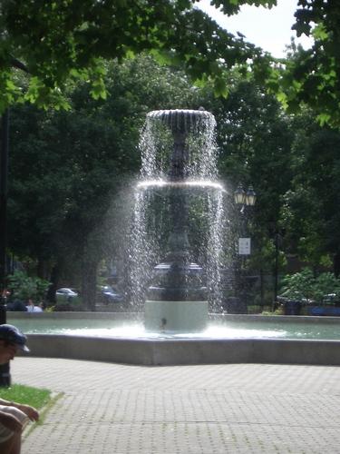 [Picture: Fountain in sunlight]