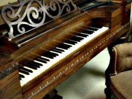 [picture: Victorian Square Grand Piano]