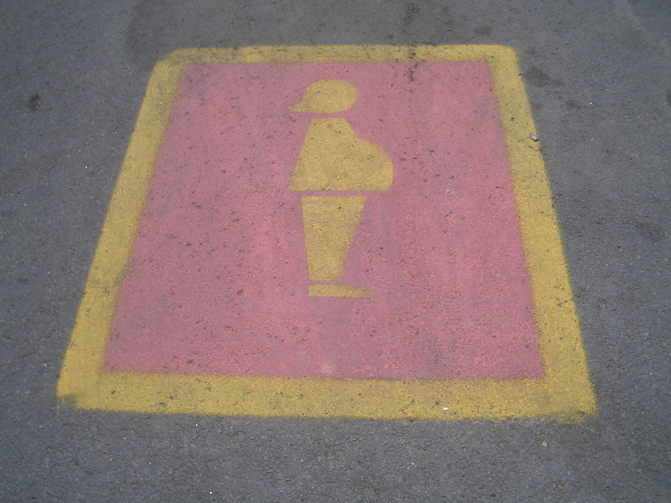 [Picture: Pregnant Woman Parking Space]