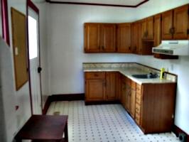 [Picture: Empty kitchen]