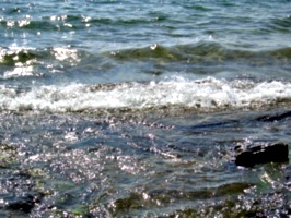 [Picture: Water on rocky shore 4]