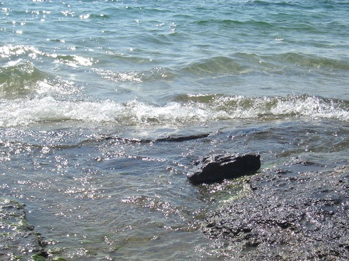 [Picture: Water on rocky shore 7]