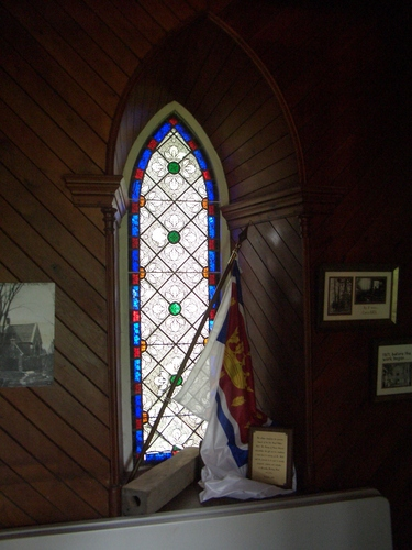 [Picture: Stained glass window.]