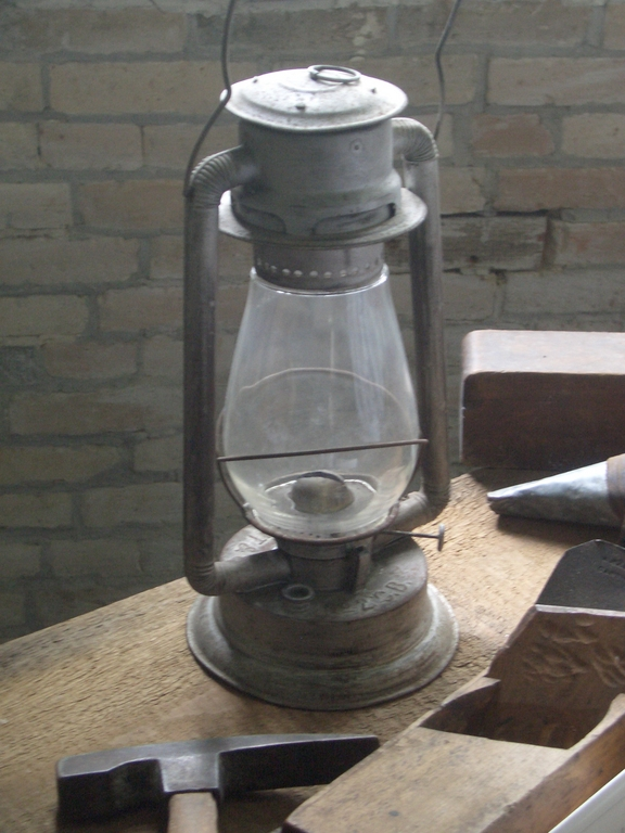 [Picture: Hurricane lamp]