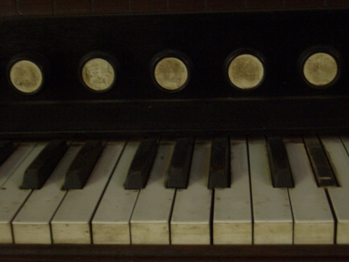 [Picture: Organ keyboard]