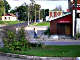 [picture: Skateboarding youth]