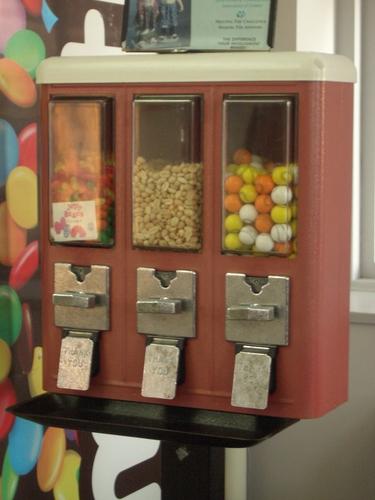 [Picture: Bubble-gum vending machine]