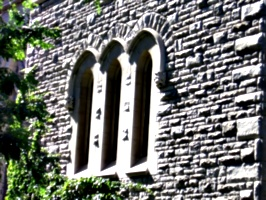[Picture: Arched stone windows]