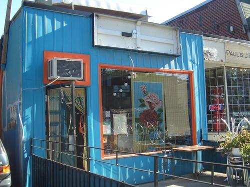 [Picture: Blue and orange restaurant]