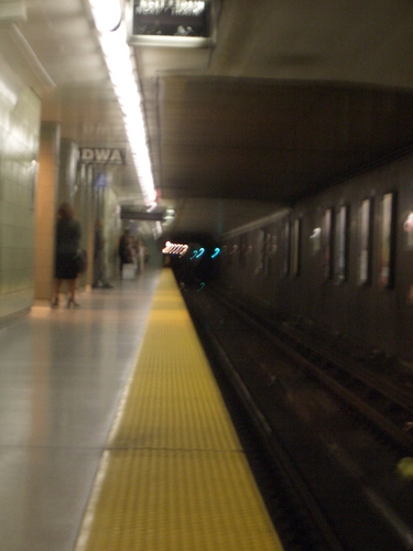 [Picture: Blurred subway station platform 2]