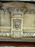 [Picture: Carved stone lion's head 2]