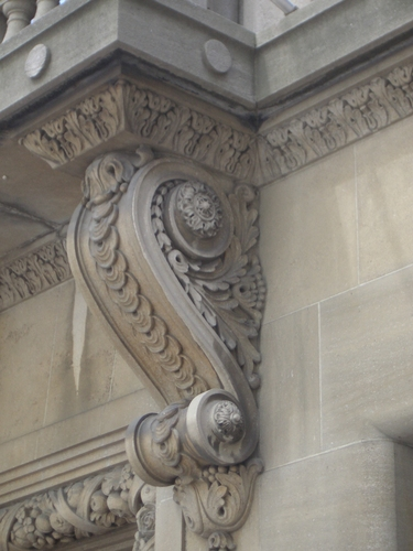 [Picture: Carved stone corbel]