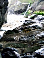 [picture: Tintagel Cove: the beach]