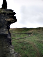 [Picture: Ruins of Tintagel Castle 10: End of the wall]