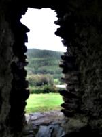 [picture: Restormel Castle 23: View through the castle window]