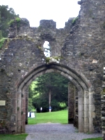 [picture: Restormel Castle 33: looking out of the main gate 2]