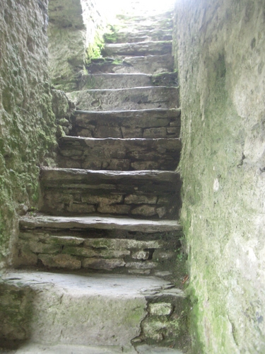 [Picture: Restormel Castle 20: Stone stairway to heaven]