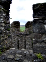 [Picture: Restormel Castle 24: On the castle roof]