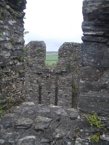 [Picture: Restormel Castle 25: On the castle roof 2]