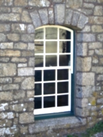 [picture: Pendennis Castle 6: Window in stone wall]