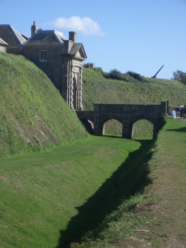 [Picture: Pendennis Castle 1: the moat]