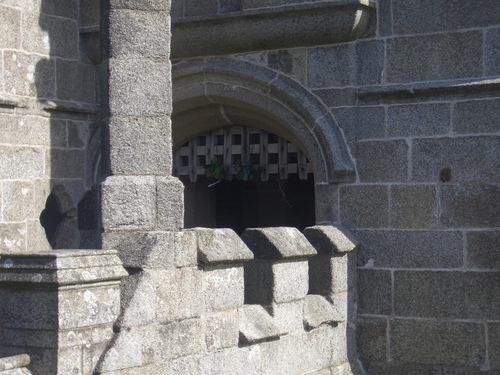 [Picture: Pendennis Castle 18: Gothic castle detail]