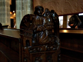 [picture: Parish Church 6: Carved angel]