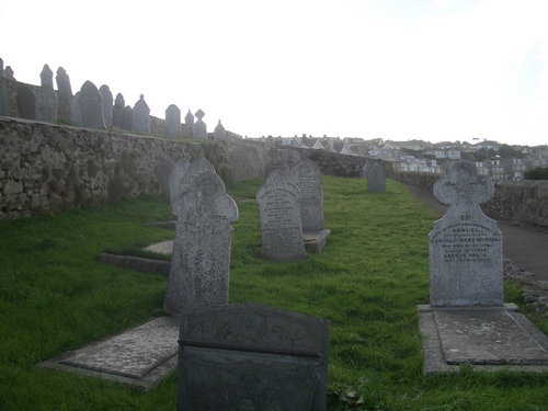 [Picture: Cornish graveyard]
