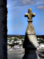 [picture: Stone cross finial]