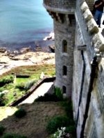 [picture: Looking down from the castle walls]