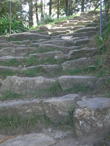 [Picture: Rough stone steps]